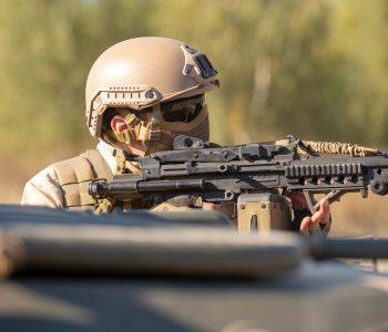 soldier in combat